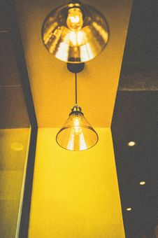 Free Closeup Photo Of Turned On Pendant Light Royalty Free Stock Images - 126175919