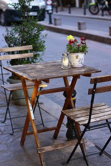 Free Shallow Focus Photography Of Brown Wooden Folding Table With Chairs Royalty Free Stock Photos - 126176268
