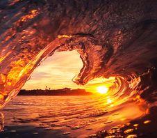 Free Frozen Wave Against Sunlight Stock Photo - 126176390