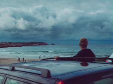 Free Man Looking At The Beach Royalty Free Stock Photography - 126176647