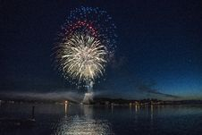 Free Red, Blue, And White Firework Display Stock Photos - 126176863