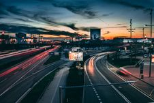Free Time Lapse Photography Of Road During Golden Hour Royalty Free Stock Images - 126177469