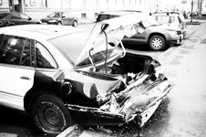 Free Grayscale Photo Of Wrecked Car Parked Outside Royalty Free Stock Image - 126177576