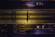 Free Aerial View Of Cars On Gray Highway Royalty Free Stock Image - 126177736
