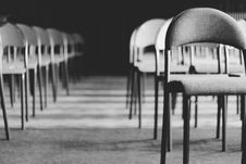 Free Grayscale Photo Of Empty Folding Chairs Royalty Free Stock Images - 126177909