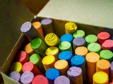 Free Close-up Of Crayons Inside Box Royalty Free Stock Photo - 126178035