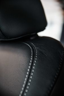 Free Macro Photography Of Black Leather Seat Royalty Free Stock Images - 126178119