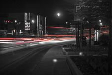 Free Grayscale And Time Lapse Photo Of Vehicle At Night Time Royalty Free Stock Photos - 126178138