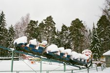 Free Snow Covered Rolling Coaster Stock Photo - 126178590