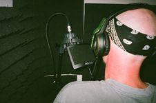 Free Man Recording Audio Stock Photography - 126178612
