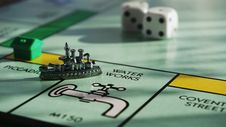 Free Gray Monopoly Game Board Royalty Free Stock Images - 126178709