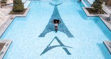Free Woman In White Bikini Standing On Swimming Pool Stock Image - 126178771