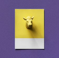 Free Yellow Bull Head Bust Painting Royalty Free Stock Photos - 126179158