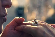 Free Close-Up Photography Of Hands With Ring Stock Image - 126179201