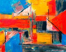 Free Abstract Painting Stock Image - 126179461