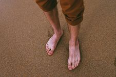 Free Close Up Photo Of Person Standing On Seashore Stock Images - 126179574