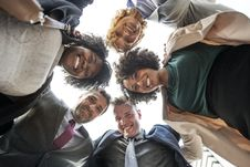 Free Group Of People Looking Downwards To The Camera Stock Photography - 126180602