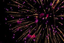 Free Photo Of Purple And Yellow Fireworks In Night Sky Royalty Free Stock Photos - 126180648