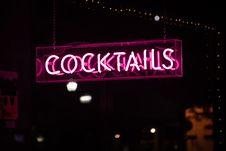 Free Cocktails Led Signage Royalty Free Stock Photos - 126180778