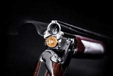 Free Photo Of Silver And Brown Flintlock Pistol With Brass Ammo Royalty Free Stock Images - 126180789