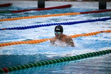 Free Swimmer On Pool Stock Images - 126181254