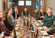 Free Group Of People Sitting On Dining Table Stock Photo - 126181430