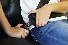 Free Person Locking Seat-belt Royalty Free Stock Image - 126181576