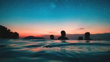 Free Silhouette Of People On Water During Dusk Royalty Free Stock Photography - 126181587