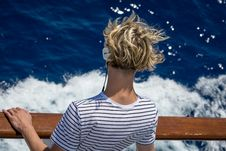 Free Close-Up Photography Of Man Looking Down The Sea Stock Photo - 126181720