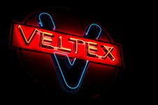 Free Red And Blue Veltex Neon Signage Stock Photos - 126181723