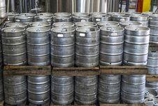 Free Pile Of Cylinder Silver Keg Tank Lot Royalty Free Stock Photos - 126182018
