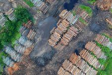 Free Bird S Eye View Of Woodpile Stock Photo - 126182160