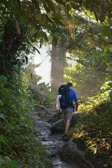 Free Man Walking On Muddy Trail Royalty Free Stock Photos - 126182888