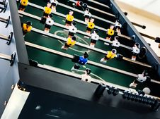 Free Closeup Photo Of Black And Green Foosball Table Stock Image - 126183311