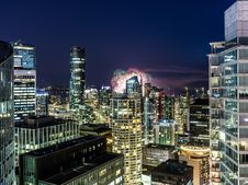 Free Urban City With Fireworks During Nighttime Stock Photo - 126183530