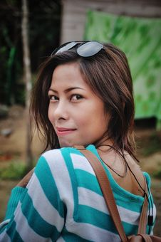 Free Shallow Depth Of Field Photography Of Woman In White And Teal Striped Long-sleeved Shirt With Sunglasses Royalty Free Stock Images - 126183689