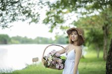 Free Tilt-shift Photography Of Woman Holding Basket Stock Images - 126183954