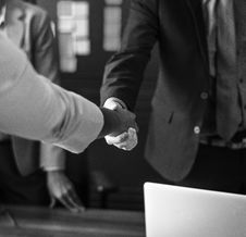Free Grayscale Photo Of Person Hand Shaking Stock Photo - 126183990