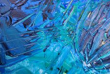Free Blue Abstract Painting Royalty Free Stock Photography - 126185097