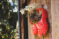 Free Pair Of Red Wooden Shoes Royalty Free Stock Image - 126185386