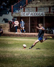 Free Man Kicking Ball Stock Images - 126185524