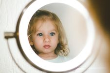 Free Selective Focus Photography Of Girl Facing Lighted Magnifying Lamp Stock Image - 126185621