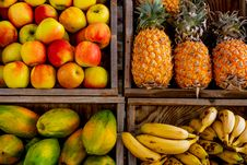 Free Four Trays Of Varieties Of Fruits Stock Photos - 126185823