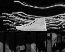Free White Hi-top Sneaker Stock Image - 126185831