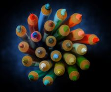Free Assorted Coloured Pencils Stock Image - 126185931