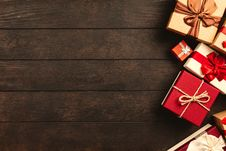 Free Red, White, And Brown Gift Boxes Royalty Free Stock Photos - 126186248