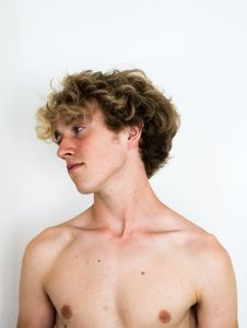 Free Topless Man Facing Right Side Stock Image - 126186491