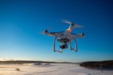 Free Flying Drone Stock Image - 126186521