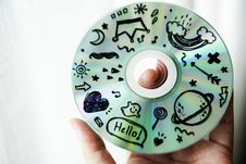Free Person Holding Cd Stock Photography - 126186582