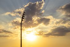 Free Silhouette Photo Of Light Tower Under Sunrays Royalty Free Stock Images - 126186669